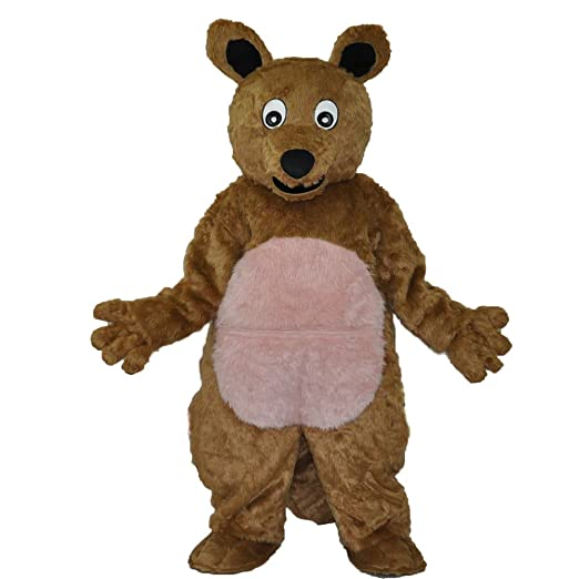 MascotShows Disfraz canguro mascota disfraz para disfraz de carnaval de personajes de dibujos animados de felpa para deporte equipos, eventos sociales, ...