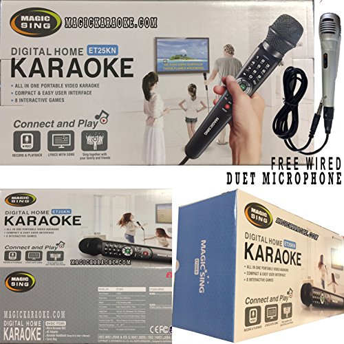 2017 ET25KN Now with 2,300 Mix Tagalog English Songs Magic Sing Karaoke Mic