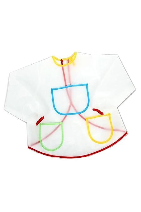 TOOGOO(R)Impermeable Mono anti-desgaste Delantal de pintura para nino vestuario artesania