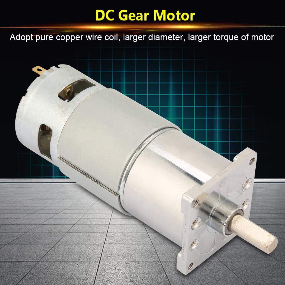 400RPM-12V DC-Getriebemotor XD-42GA775 Mikrodrehzahlregelung CW CCW DC-Motor 12V//24V