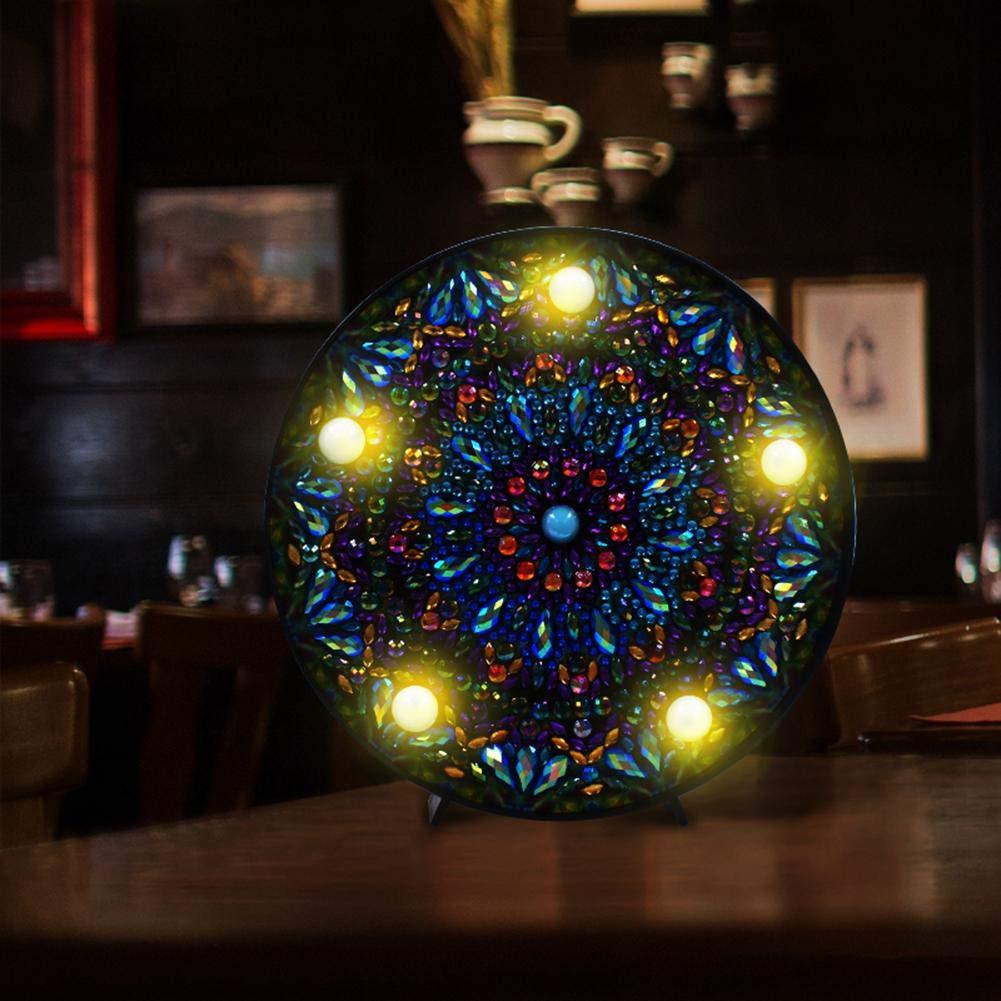GLOBEAGLE Fai da Te Mandala Diamond Painting Light Embroidery Full Special Lampada da Trapano a LED