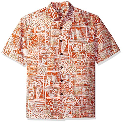 Kahala Men's World Crew, Lava Orange, MED