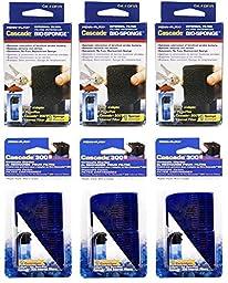 Penn Plax Cascade 300 Internal Filter Replacement Cartridges (9-Pack Media Set)