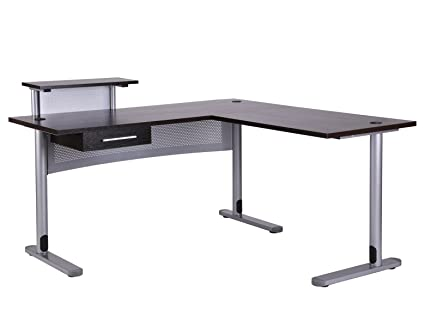 Etonnant FIVEGIVEN Corner Office Desk L Shaped Desk For Home Office Black