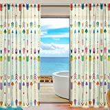 SEULIFE Window Sheer Curtain, Tribal Ethnic