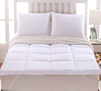 thick mattress pad. Sheetsnthings 2\u0026quot; Thick Mattress Pad/ Topper 100% Cotton Twin Extra Long With 42oz Pad