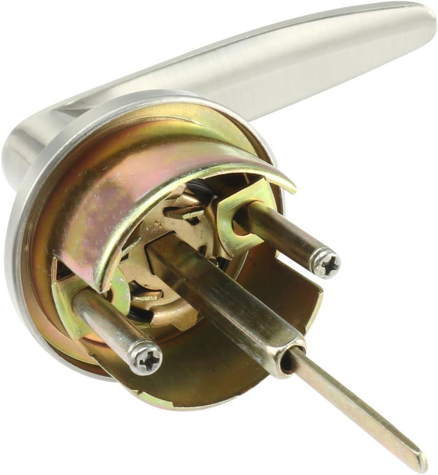 sourcingmap/® Chambre /à coucher salle bains avec cl/é verrouillage poign/ée porte verrouillable Lockset 60mm-70mm Backset