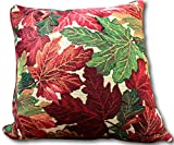 Tache 2 Piece 16 X 16 Inch Warm Tapestry Colorful Thanksgiving Leaves Fall Foliage Decorative Accent Throw Pillow Cushion Cover Set