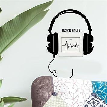 Rameng Music Is My Life Wandsticker Selbstklebend Kreativ