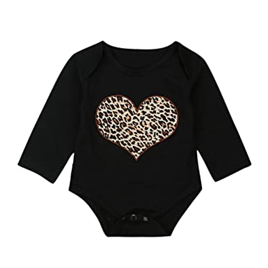 416aff63b Image Unavailable. Image not available for. Colour: PLOT PLOT Baby Girls  Long Sleeved Romper Leopard Print Jumpsuit Clothes ...