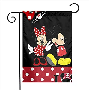 LIUYAN Garden Flag - Mickey Mouse Unique Decorative Outdoor Yard Flags for Your Home 12 X 18 Inches