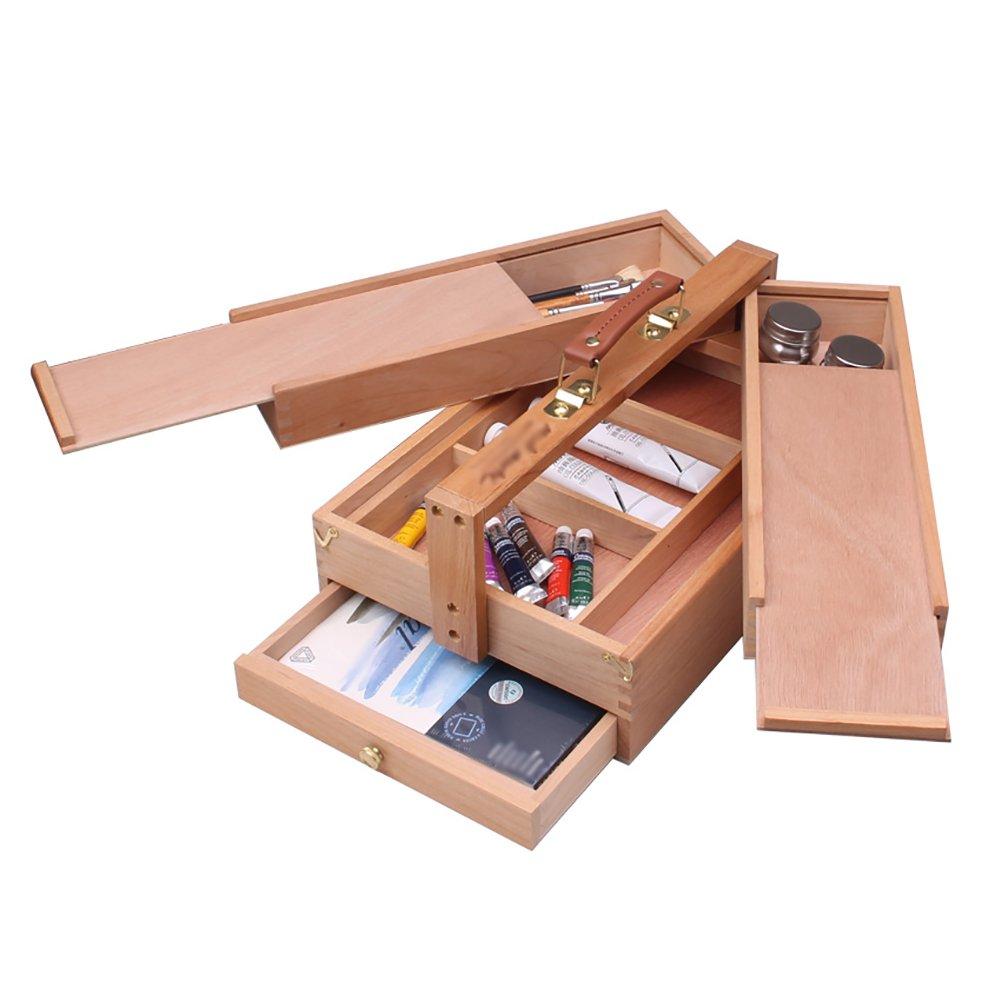 折りたたみデスクトップ油絵ボックス引き出しタイプバーチウッドイーゼルポータブルツールストレージボックス画像ボックス B07F9R76V9 B07F9R76V9, サイクルショップPONY:138a7507 --- ijpba.info