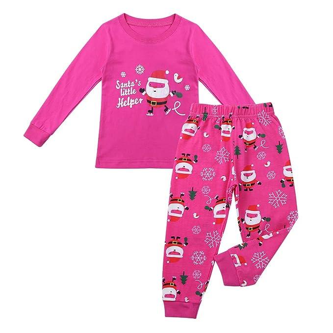 iixpin Pijama Unisex Navidad Pelele Estampado Santa Claus Patrón Ropa de Dormir Dos Piezas Camiseta Manga Largo Pantalones Largo Otoño: Amazon.es: Ropa y ...