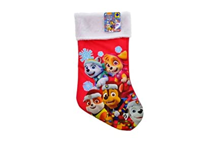 nickelodeon paw patrol team christmas stockings for kids red with white fur trim - Christmas Stockings For Kids