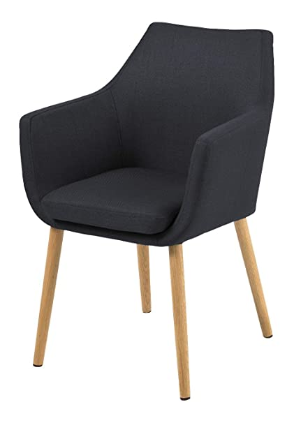 AC Design Furniture 59331 sillón Trine, 58 x 84 cm, Funda de Asiento/Respaldo de Tela Corsica de Colour Gris Oscuro