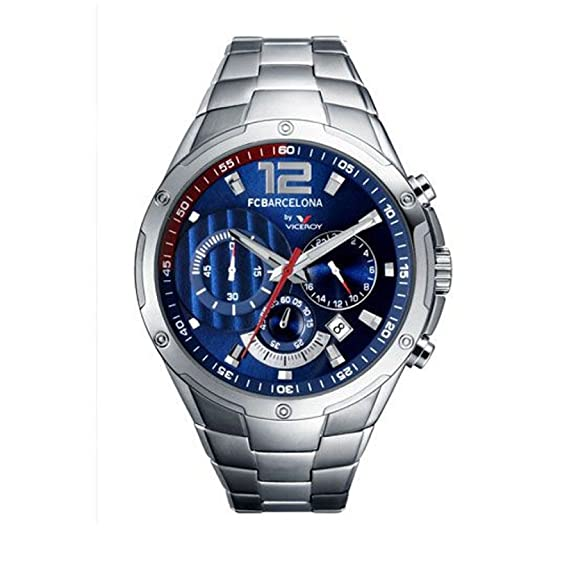 Viceroy 432615-35 - Reloj Cronógrafo FC Barcelona Caballero plateado: Amazon.es: Relojes