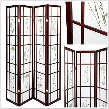 Amazoncom Magshion Oriental Room Divider Hardwood Shoji Screen