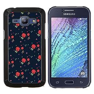 Dragon Case - FOR Samsung Galaxy J1 J100 J100H - roses vintage retro dress pattern fashion - Caja protectora de pl??stico duro de la cubierta Dise?¡Ào Slim Fit