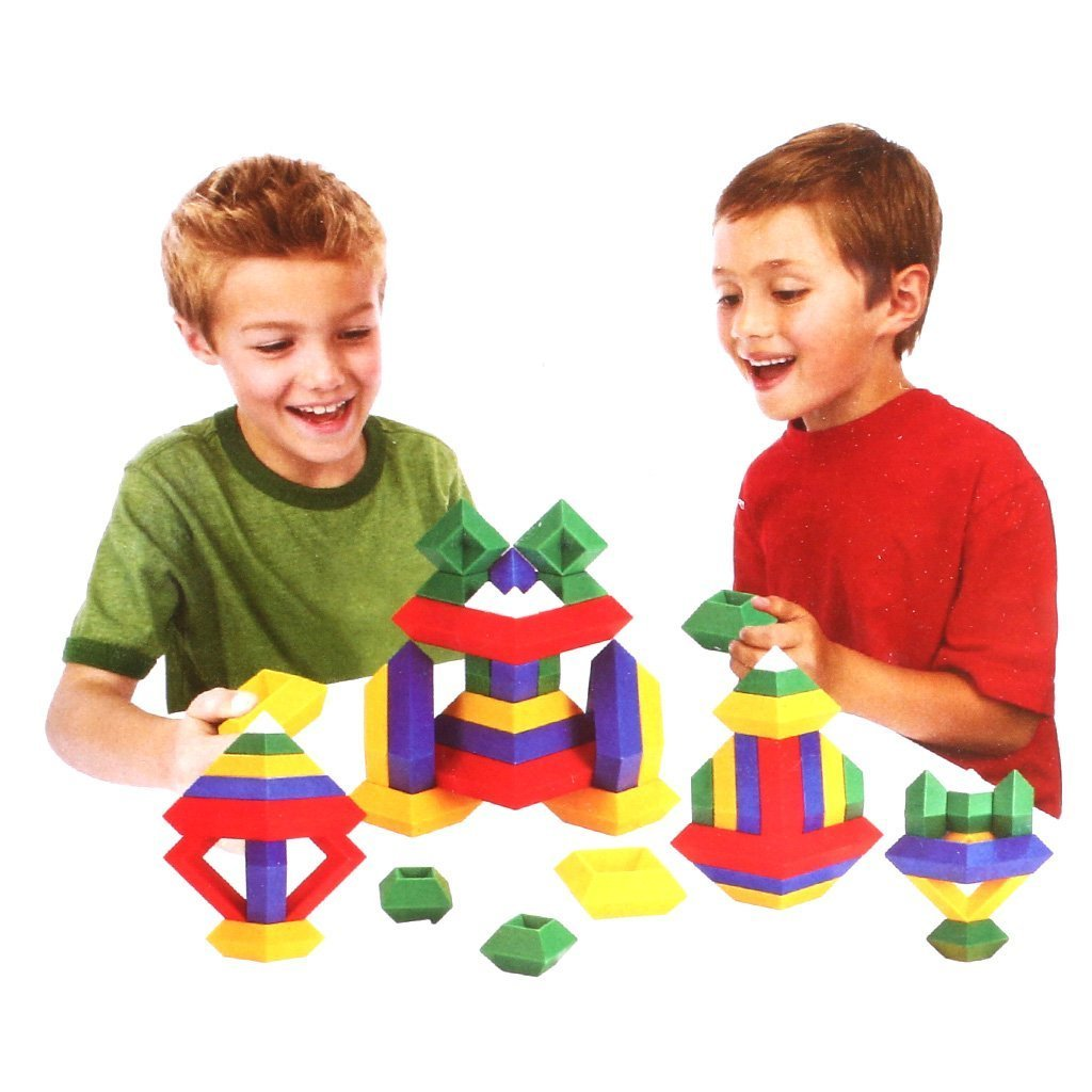 Agirlgle Building Blocks Toys Set for Kids and Adults Game 3D Puzzle Brain Teasers Pyramid Speed Cube, Creative Educational Toys Kits for Kids Preschool Learning Toys Stacking Block Sets Assembled