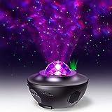 مكبرات الصوت المحمولة - آلة العرض الملونة بالنجوم السماء ضوء الليل المحيط موجة نجمة مصباح محيط جهاز العرض مع مكبر صوت…