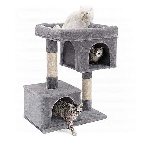 NYDZDM Gato Árbol Sisal Rascador Poste Escalada Marco Mascotas Muebles Gato Árbol Torre Muebles Gatito Casa