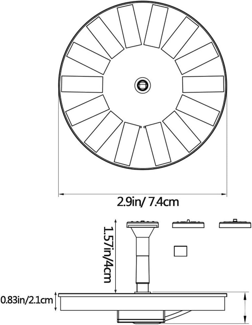 para Fuente Fuente de Jard/ín Solar con 4 Boquillas OMZGXGOD Solar Fuente Bomba Jard/ín Tanques de Peces Estanque Piscina Bomba Solar para Estanque con Panel monocristalino de 1,4 W