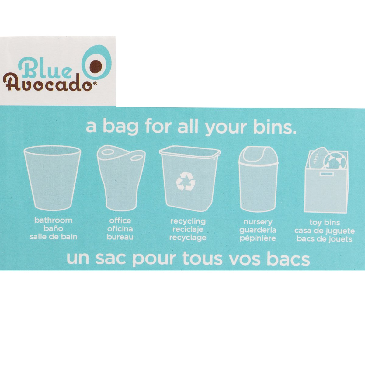 Blue Avocado (3 Pack) Eco Friendly Trash Can Liners Reusable Trash Bags Home Office Bathroom Kitchen by BlueAvocado (Image #2)
