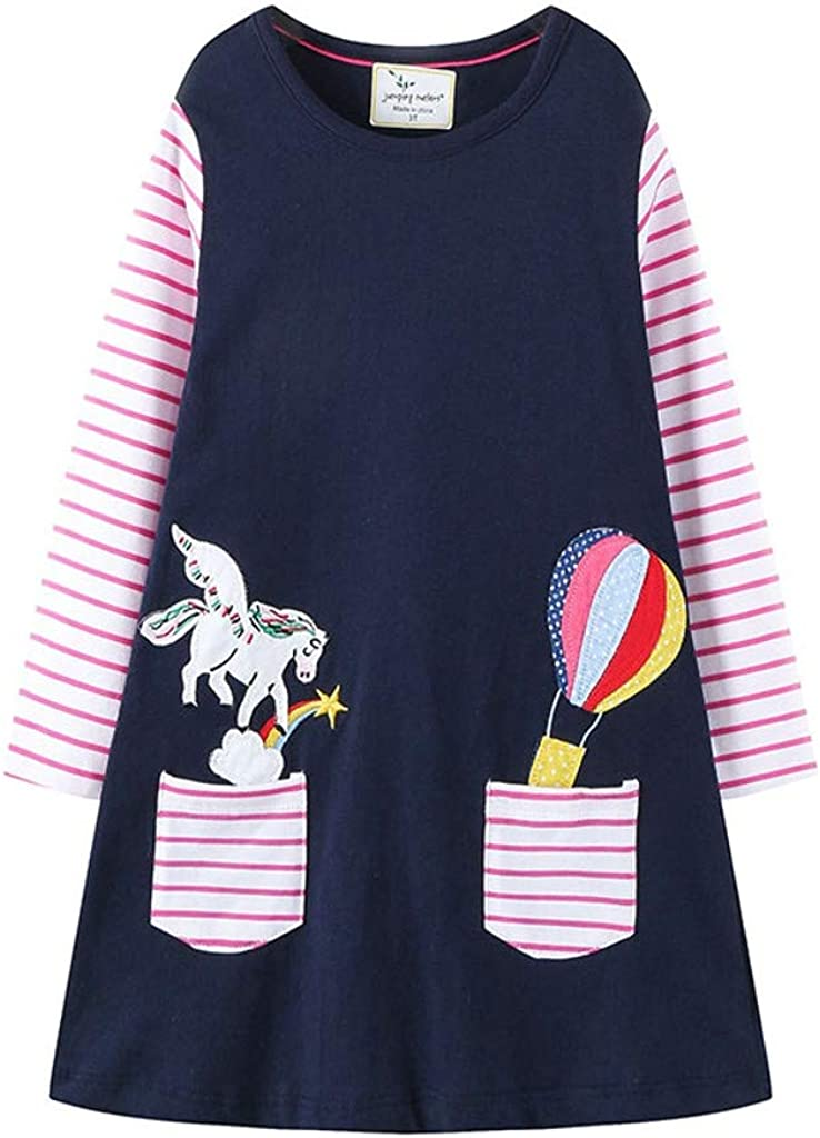 Baby Dresses for Girls Waymine Infant Kids Spring Horse Stripe Princess Clothes