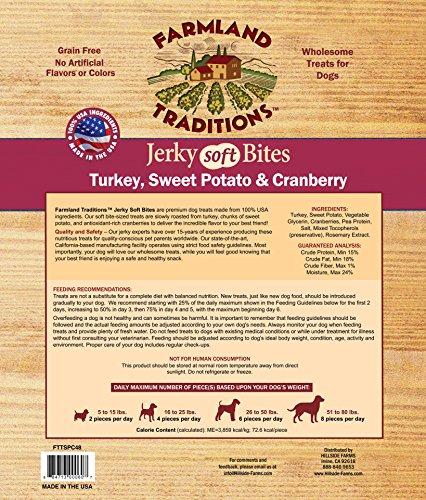 Farmland Traditions USA Made Turkey, Sweet Potato, & Cranberry Soft Bite Dog Jerky, 3 lbs.