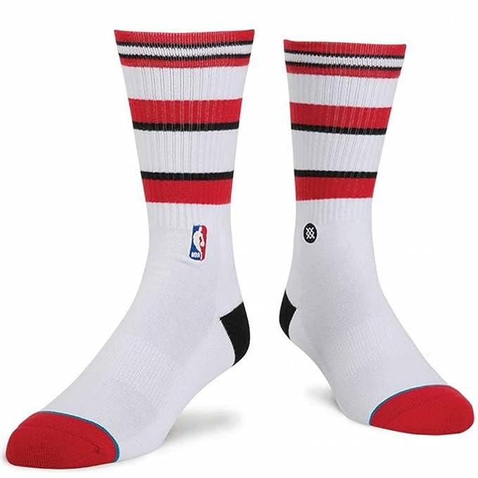 Postura de la NBA Chicago Bulls Arena Casual Core – Calcetines, color blanco, tamaño