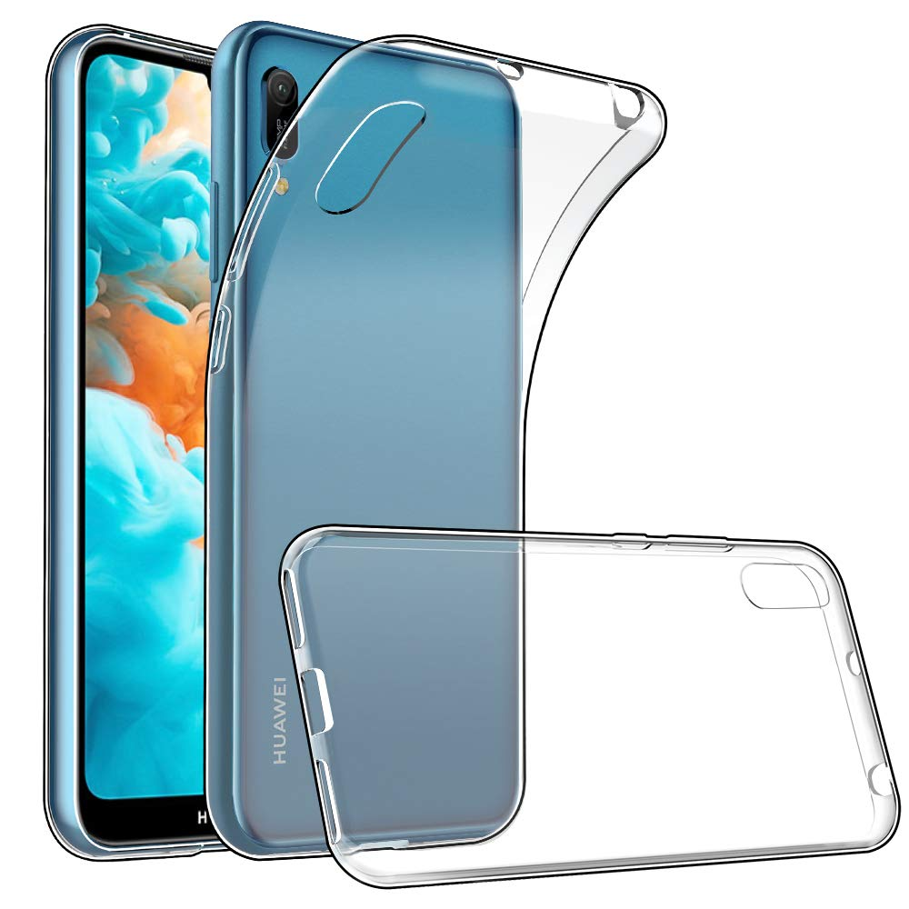 GeeRic Case Compatible with Huawei Y6 2019, Clear Cover Soft Silicon Bumper Covers Back Protector Transparent Anti Slip…