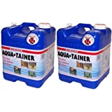 Reliance Big Blue Aqua Tainer Water Container 7 Gallon 2 Pack New Vent 9410-23