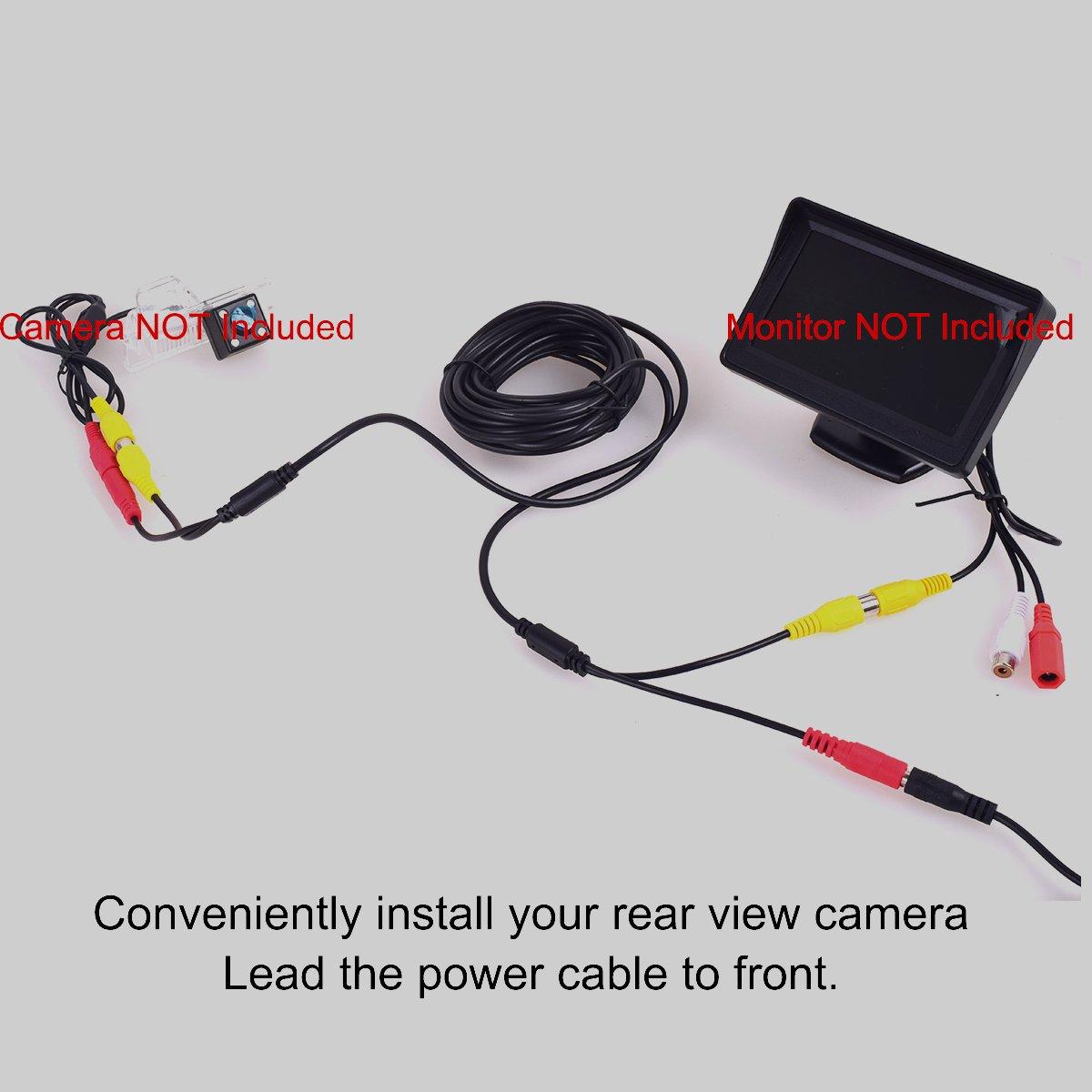CoCar 10M Cinch RCA Phono DC-Verl/ängerungen 2,1 5,5mm 2 in 1 Verl/ängerungskabel f/ür Auto Einparkhilfe R/ückfahrkamera LKW PKW KFZ Monitor Kamera CCTV 20FT