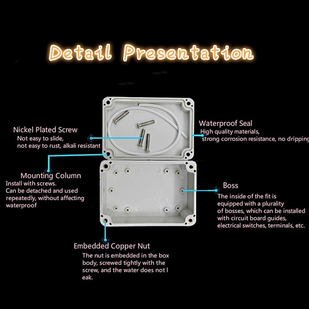 Bo/îte de d/érivation IP66 /étanche /à la poussi/ère Thermoplastique ABS Bo/îte de d/érivation pour projet /électrique 98 x 66 x 48 mm