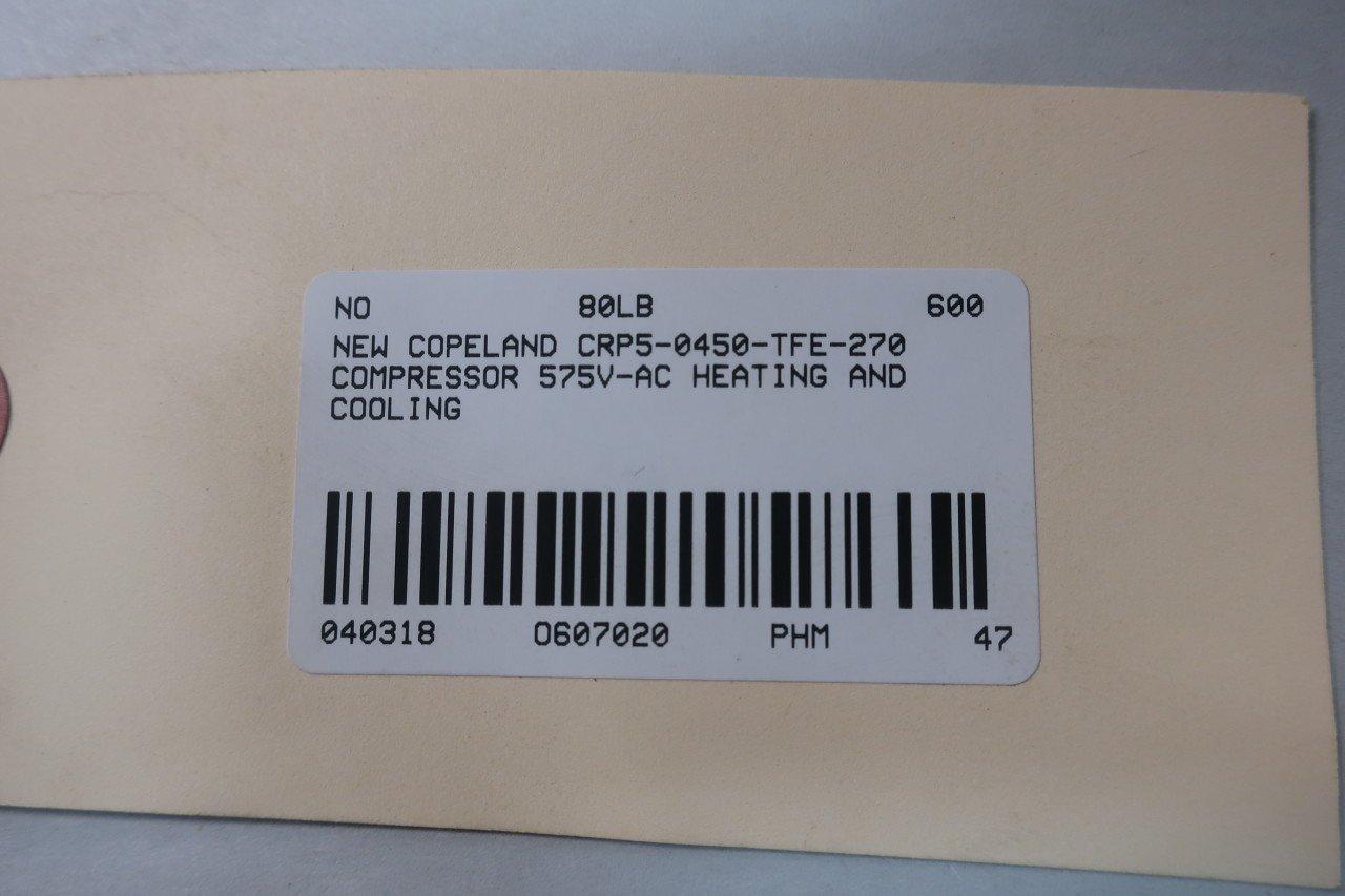 Copeland CRP5-0450-TFE-270 Compressor 575V-AC D607020