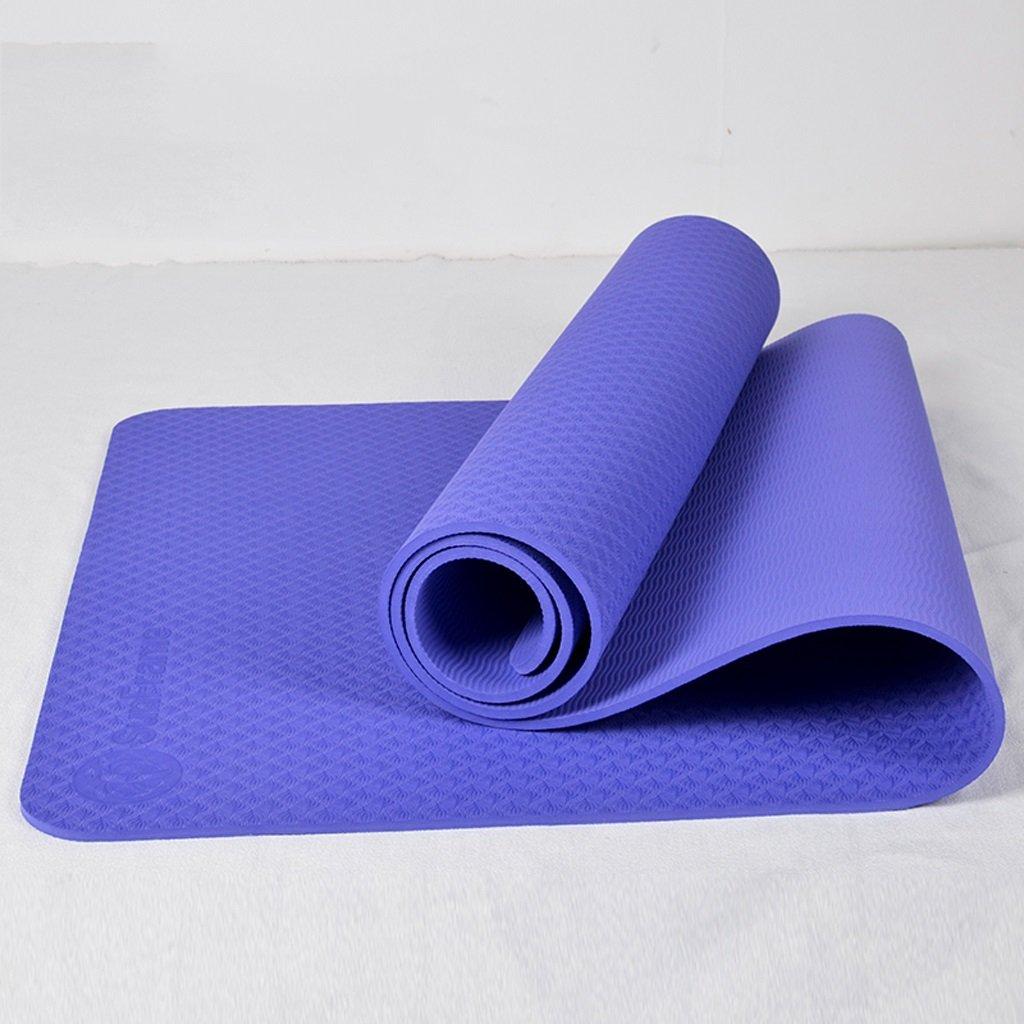 Allargando 66 cm Spessore insipido TPE Yoga Mat Fitness Mat Slip Genuino Sempre più Mat Uomini e Donne Principianti (colore   viola)