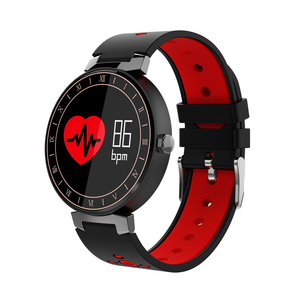 ISTYLE L8 Smart Bracelet Sport Color Screen IP68 Waterproof Smart Band Heart Rate Monitor Fitness Tracker Blood Pressure Wristband For Android IOS Smartphone (Red)