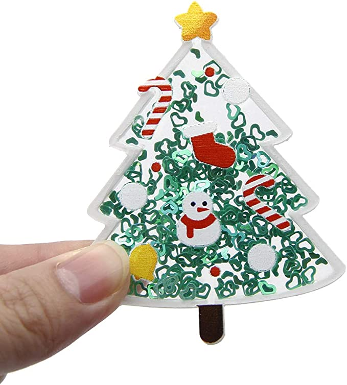 Christmas Themed Synthetic Leather Cut-Outs Assorted Mix Crafts, DIY Confetti