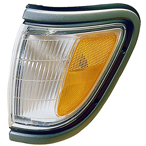 Toyota Tacoma Truck Corner (1995-1996-1997 Toyota Tacoma Pickup Truck (4WD 4 Wheel Drive) Corner Park Light Turn Signal Marker Lamp with Black Trim Left Driver Side (95 96 97))