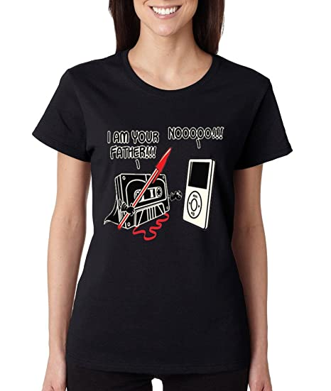 83fd0bc9 Amazon.com: Cosmozz I Am Your Father Funny Star Wars Ladies T-Shirt Old  Skool Darth Vader Shirts: Books
