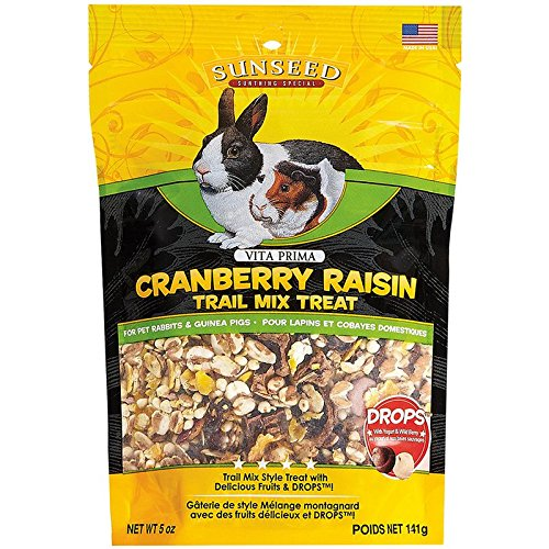 - Sun Seed 36031 5 Oz Company Cranberry Raisin Vita Prima Trail Treat For Rabbits & Guinea Pigs, One Size