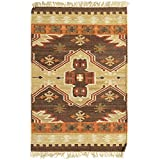 Surya Jewel Tone II JTII-2035 Transitional Hand Woven 100% Hard Twist Wool Hot Cocoa 2' x 3' Southwest Accent Rug
