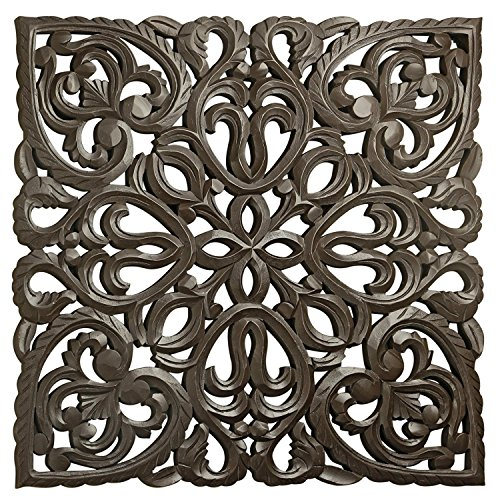 Carved Medallions Wood - 12