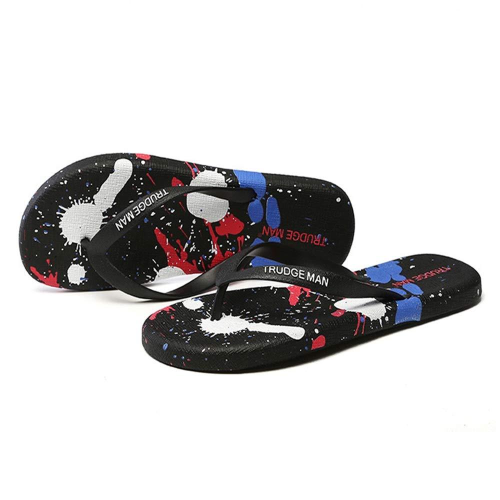 Wangcui Leichte Hausschuhe Sommer Sommer Leichte Leichte Wangcui Rutschfeste Sandalen Paar Schuhe (Farbe : Rot, Größe : 41 1/3 EU) Schwarz f1c295
