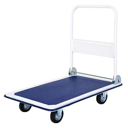 20f88160fd81 Giantex 5 660lbs Platform Cart Dolly Folding Foldable Moving Warehouse Push  Hand Truck