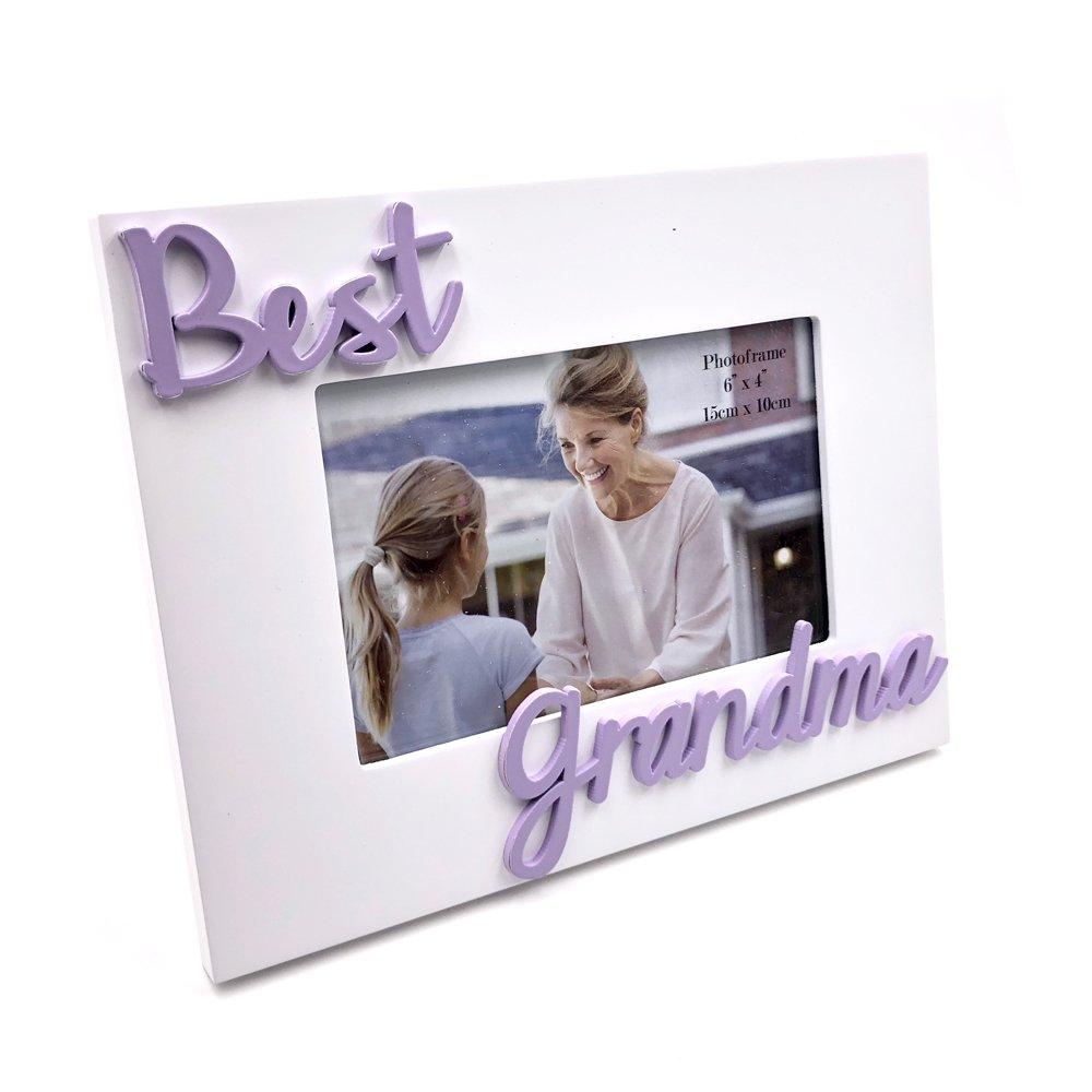 Best Grandma weiß Foto Rahmen mit erhöhte Buchstaben: Amazon.de ...