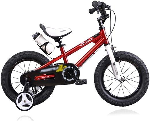 Bicicletas Bicicleta para Niños con Rueda Auxiliar Triciclo Equilibrado Boy Girl Puzzle Walker Bicicleta con Pedales para Niños Triciclo para Niños Regalo para Niños (Color : Red, Size : 14 Inches): Amazon.es: Hogar