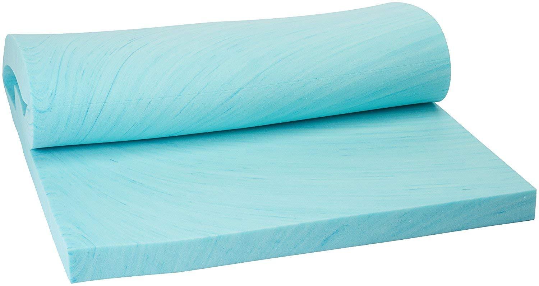 Memory foam solutions 3 inch visco elastic memory foam mattress pad bed topper