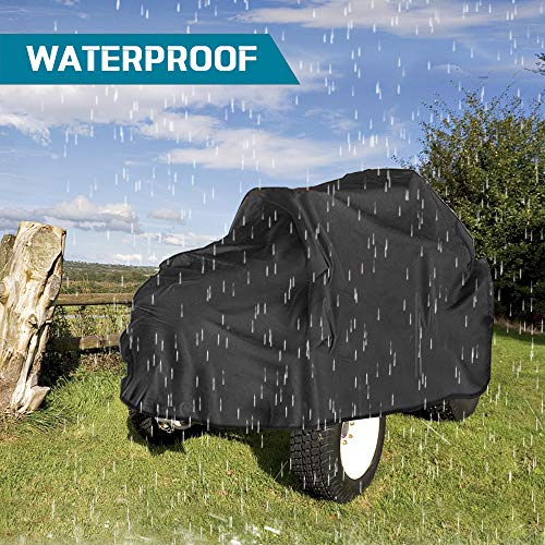 Refial Tractor Cover, Waterproof Riding Lawn Mower Cover,Heavy Duty Water UV Resistant Garden Tractor Lawn Mower Cover for Ride-On Garden Engine Lawn Mower Tractor and ATV XL:L73 xW55 xH47
