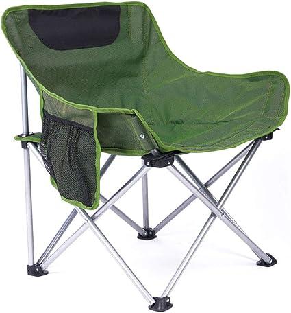 AJZXHE Silla portatil Silla de Camping Plegable al Aire Libre ...
